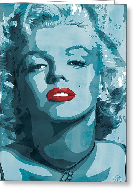 Marilyn Monroe Greeting Card by Jeff Nichol