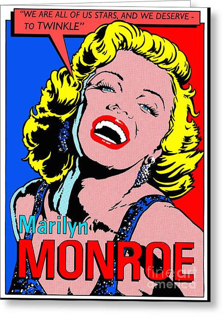 Marilyn Monroe Greeting Card by John Reilly