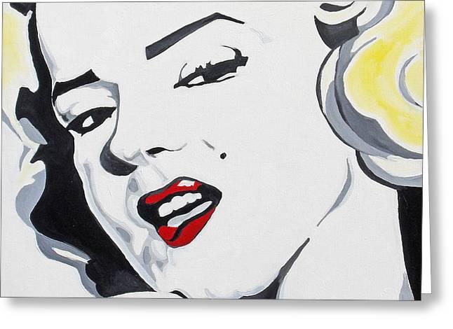 Marilyn Monroe Greeting Card by Joseph Palotas