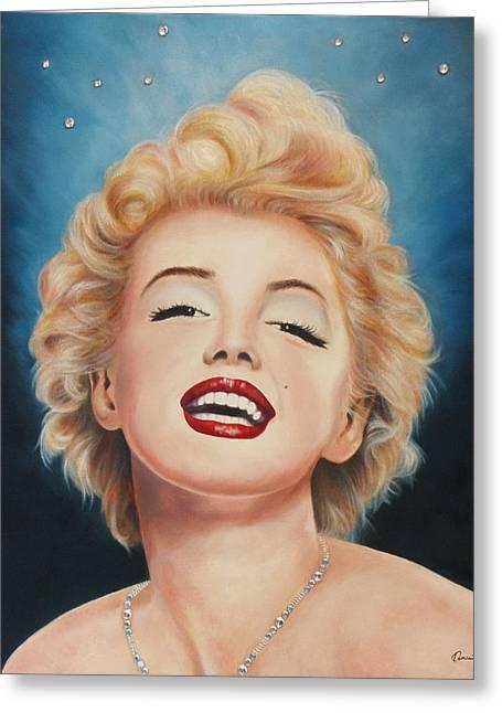 Marilyn Monroe Greeting Card by Kathleen Wong