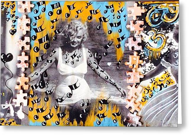 Norma Jean Greeting Cards - Marilyn Monroe  Greeting Card by Lowkey  Luciano