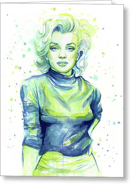 Marilyn Monroe Greeting Card by Olga Shvartsur