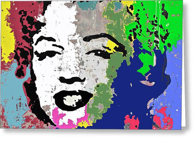Jackie Kennedy Onassis Greeting Cards - Pop Art Marilyn Greeting Card by Santiago Picatoste