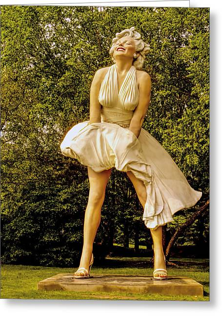 Historic Home Greeting Cards - Marilyn Monroe Sculpture  Greeting Card by Geraldine Scull