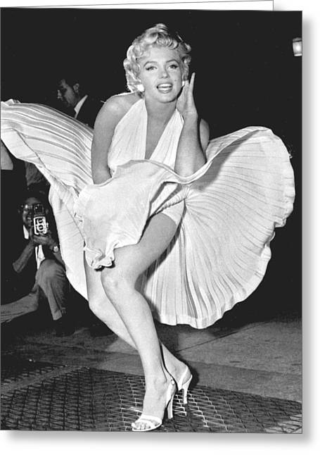 Marilyn Monroe - Seven Year Itch Greeting Card by Georgia Fowler