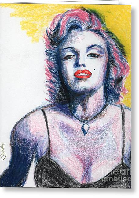 Sex Drawings Greeting Cards - Marilyn Monroe Greeting Card by Yoshiko Mishina