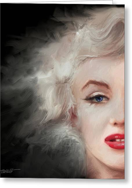 Marilyn... Some Like It Hot Greeting Card by Mark Tonelli