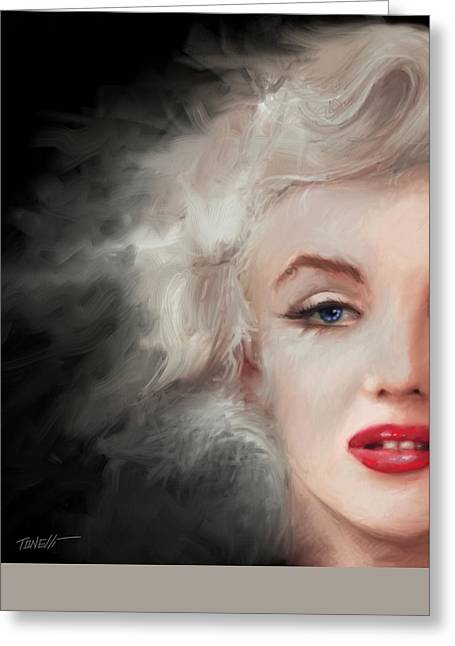 Eyebrow Greeting Cards - Marilyn... Thing Left behind Greeting Card by Mark Tonelli