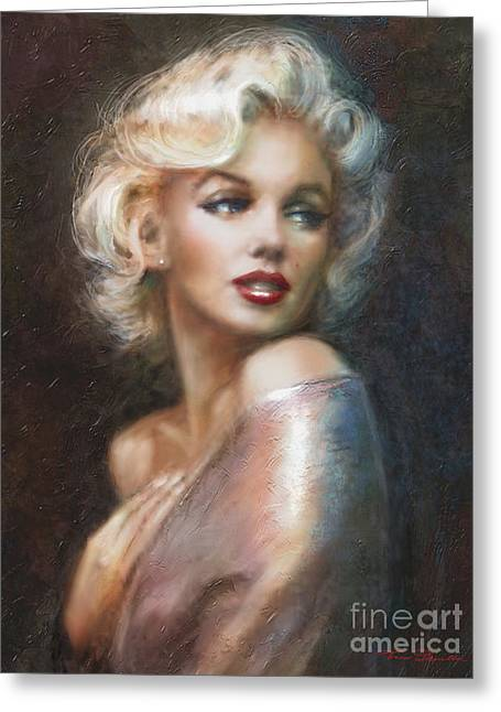 Monroe Greeting Cards - Marilyn WW soft Greeting Card by Theo Danella