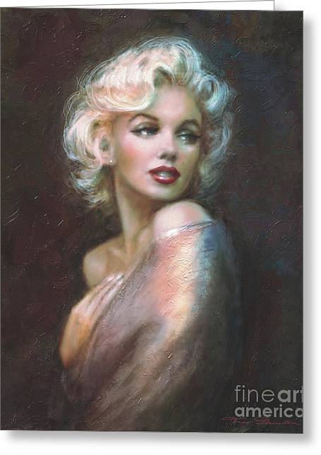 Monroe Greeting Cards - Marilyn WW  Greeting Card by Theo Danella