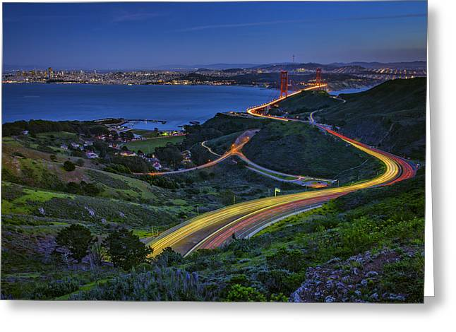 San Francisco Bay Bridge Greeting Cards - Marin Headlands Greeting Card by Rick Berk