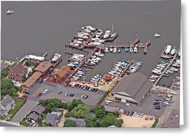 Bay Head Beach Greeting Cards - Marina Barnegat Bay Head New Jersey Greeting Card by Duncan Pearson