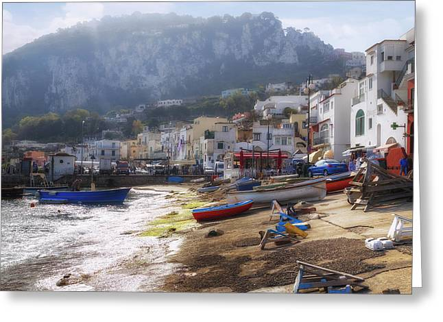 Marina Grande - Capri Greeting Card by Joana Kruse