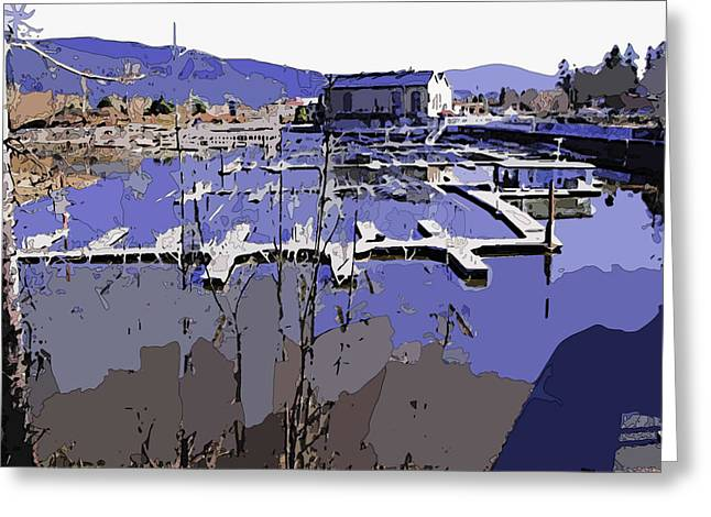 Sandpoint Greeting Cards - Marina in Spring Greeting Card by Robert Bissett