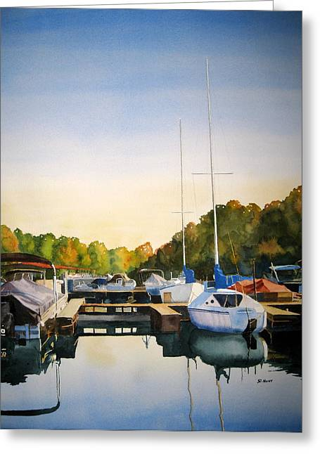 Cay Greeting Cards - Marina Morning Greeting Card by Shirley Braithwaite Hunt