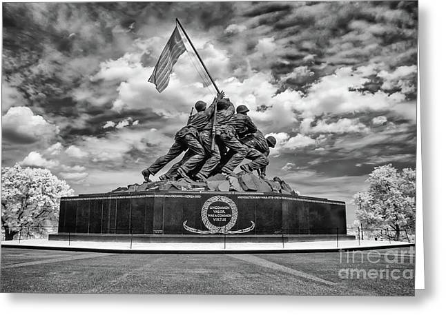 Marine Corps War Memorial Greeting Card by Anthony Sacco