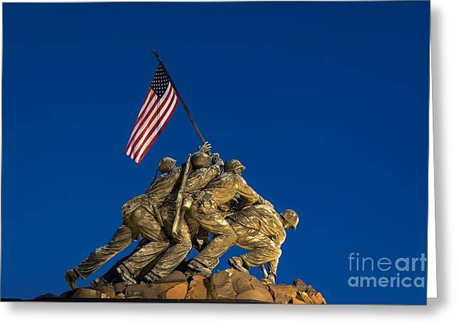 Marine Corps War Memorial Greeting Card by John Greim