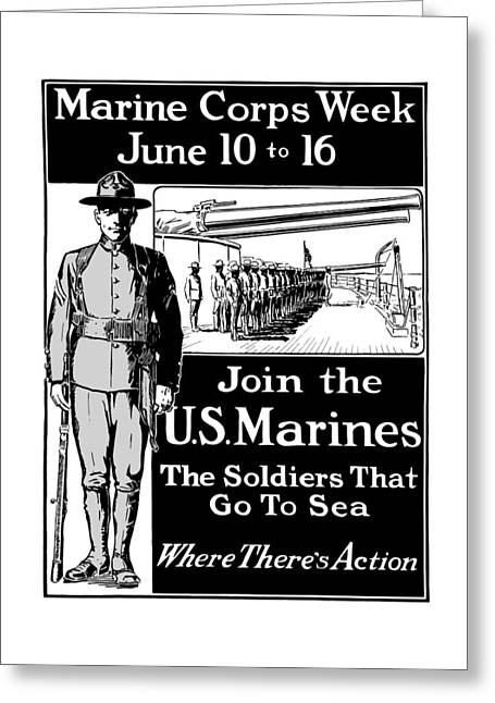 Semper Fidelis Greeting Cards - Marine Corps Week - WW1  Greeting Card by War Is Hell Store
