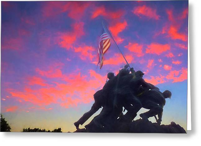 Marines At Dawn Greeting Card by JC Findley
