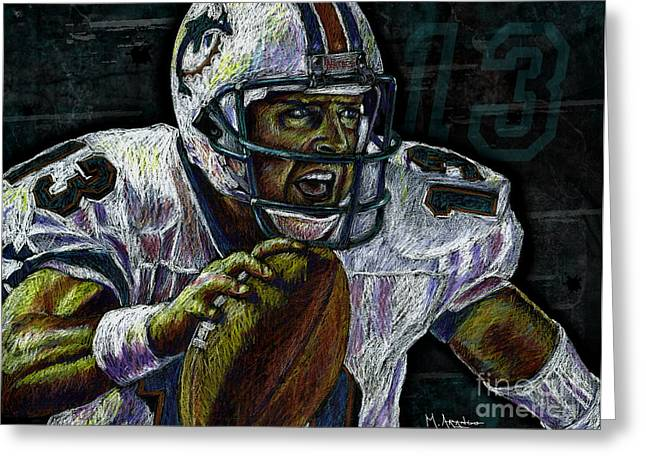 League Drawings Greeting Cards - Marino Greeting Card by Maria Arango