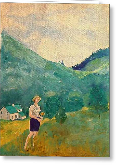 Marion At Murray Hollow 1963 Greeting Card by Fred Jinkins