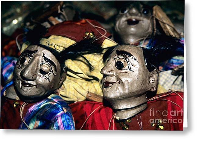 Marionettes Greeting Cards - Marionettes Greeting Card by Inga Spence