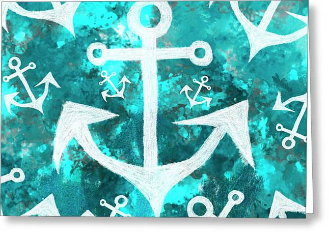 Maritime Anchor Art Greeting Card by Jorgo Photography - Wall Art Gallery