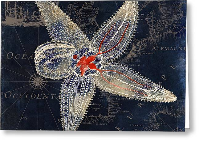 Maritime Blues II Greeting Card by Mindy Sommers