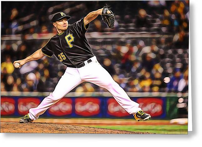 Mark Melancon Baseball Greeting Card by Marvin Blaine