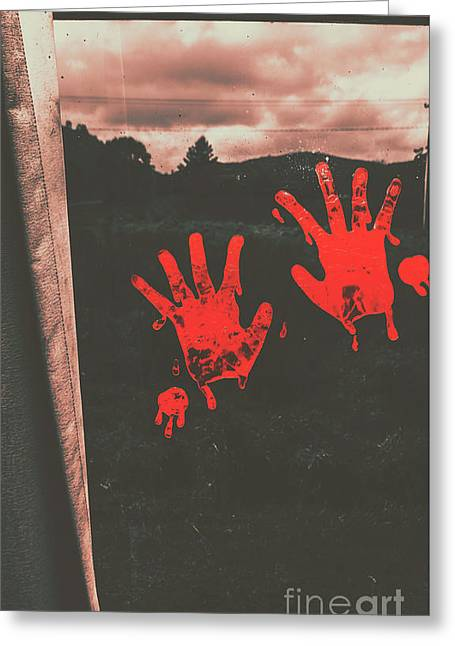 Mark Of Murder Greeting Card by Jorgo Photography - Wall Art Gallery