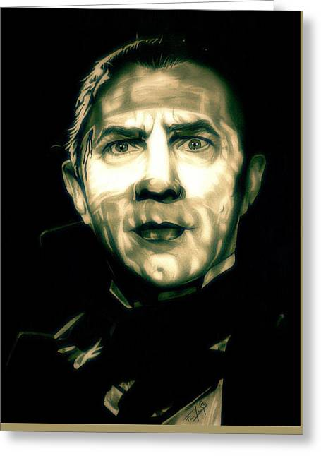 Mark Drawings Greeting Cards - Mark of the Vampire Greeting Card by Fred Larucci