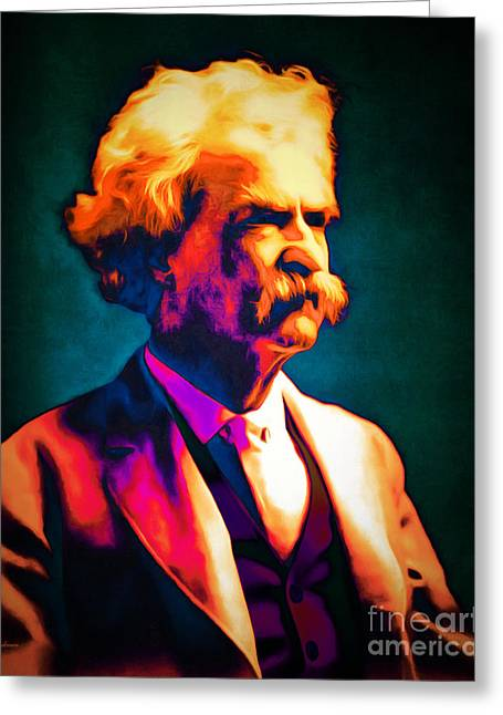 Mark Twain 20151224 Greeting Card by Wingsdomain Art and Photography