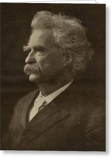 Mark Drawings Greeting Cards - Mark Twain, Psuedonym Of Samuel Greeting Card by Ken Welsh