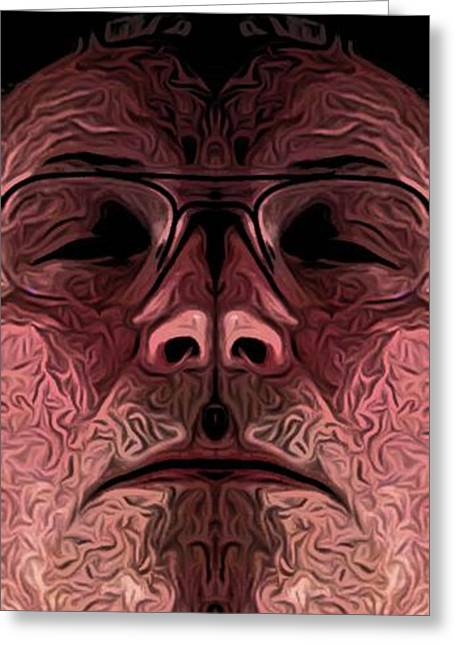 Marked Man Greeting Card by Ron Bissett
