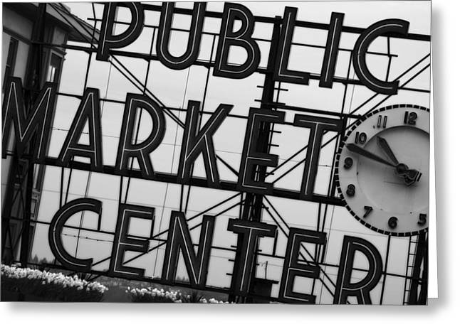 Seattle Greeting Cards - Market Greeting Card by John Gusky