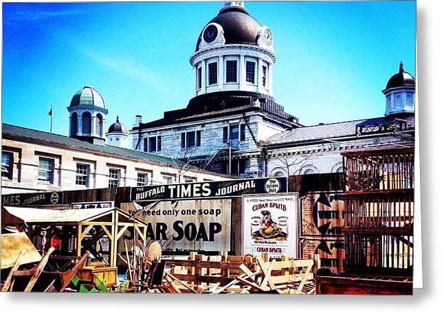 Kingston City Hall Greeting Cards - Market Square Greeting Card by Chalene  Weir