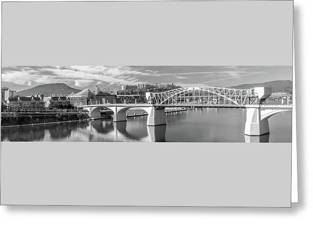 Market Street Bridge Panoramic Greeting Card by Tom and Pat Cory