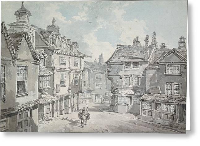 Market Street Greeting Card by Joseph Mallord William Turner