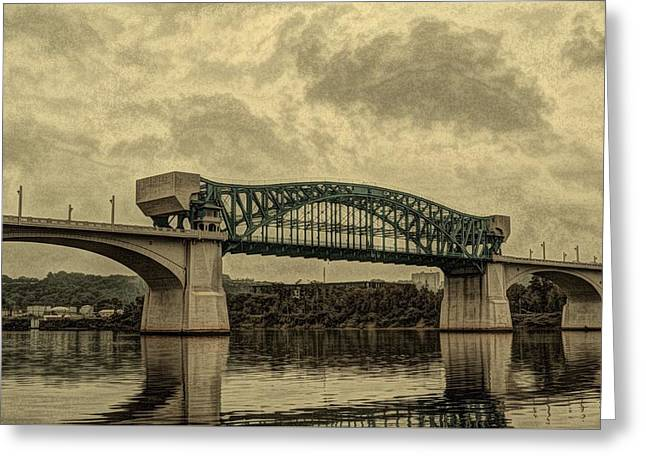 Recently Sold -  - Abstractions Greeting Cards - MarketStreetBridge Greeting Card by Johanna G