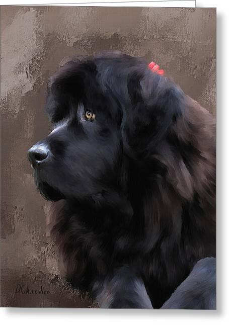 Working Dog Digital Greeting Cards - Marlene Greeting Card by Diane Chandler