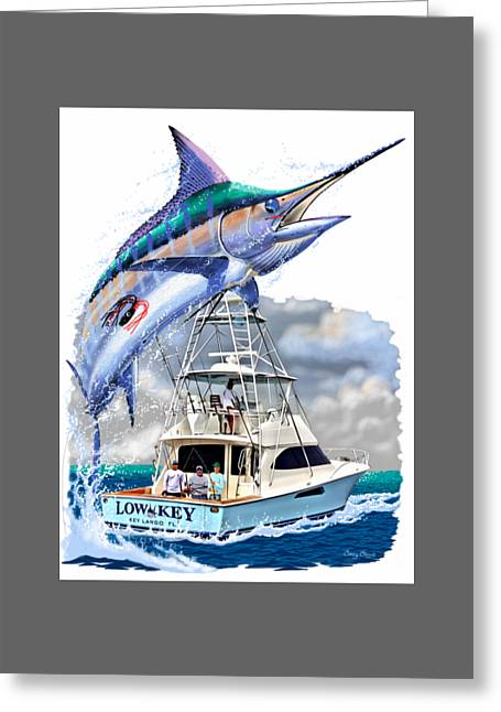 T Shirts Greeting Cards - Marlin Commission  Greeting Card by Carey Chen