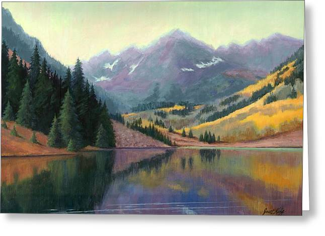 Maroon Bells In October Greeting Card by Janet King