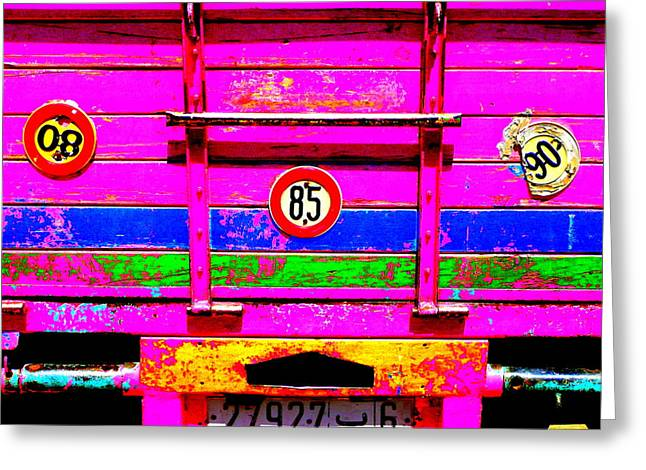 Funkpix Greeting Cards - Marrakech truck Greeting Card by Funkpix Photo Hunter