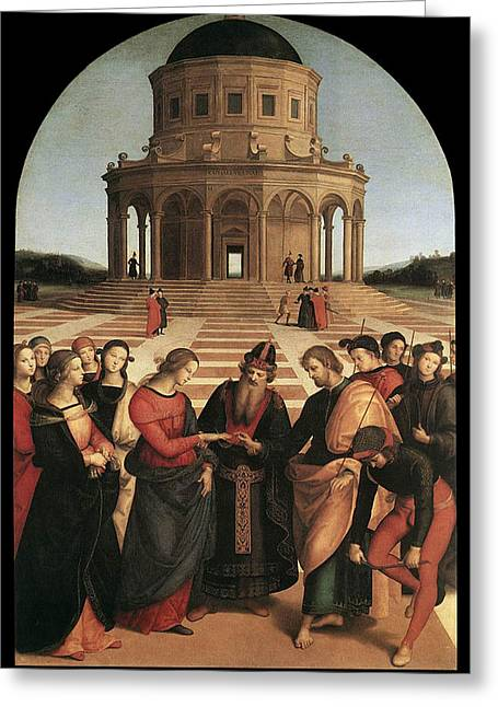 Raphael Greeting Cards - Marriage of the Virgin - 1504 Greeting Card by Raphael