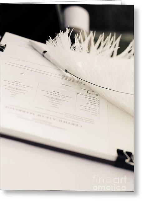Marriage Register Greeting Card by Jorgo Photography - Wall Art Gallery