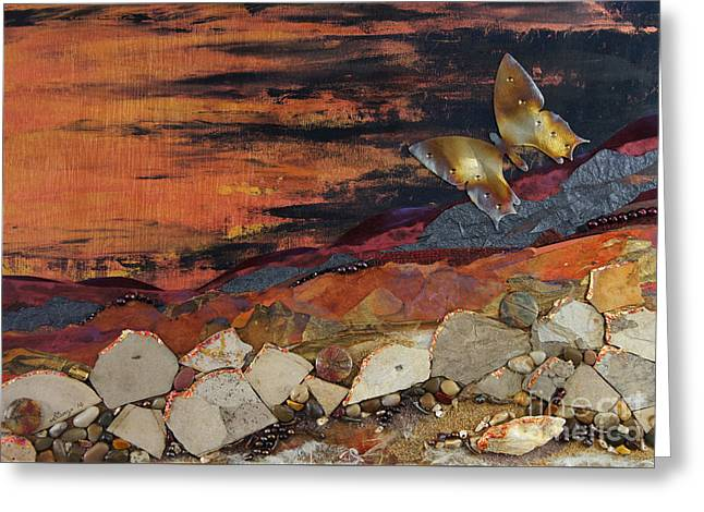 Surreal Landscape Mixed Media Greeting Cards - Mars Butterfly Effect Greeting Card by Stanza Widen
