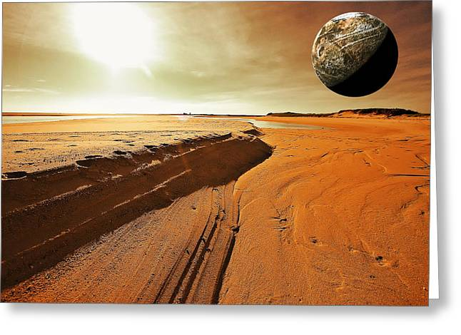 Father Greeting Cards - Mars Greeting Card by Dapixara Art