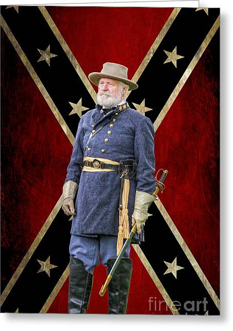 Confederate Flag Greeting Cards - Marse Robert Greeting Card by Randy Steele