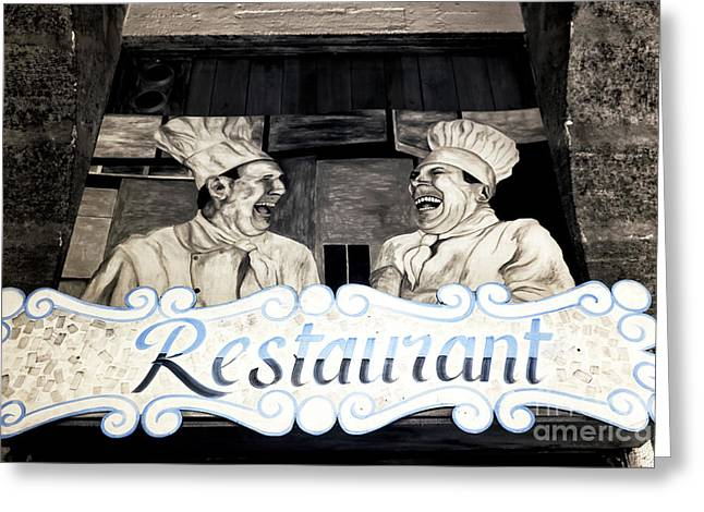 Marseille Restaurant Greeting Card by John Rizzuto