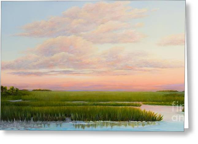 Recently Sold -  - Beautiful Creek Greeting Cards - Coastal Light Greeting Card by Audrey McLeod